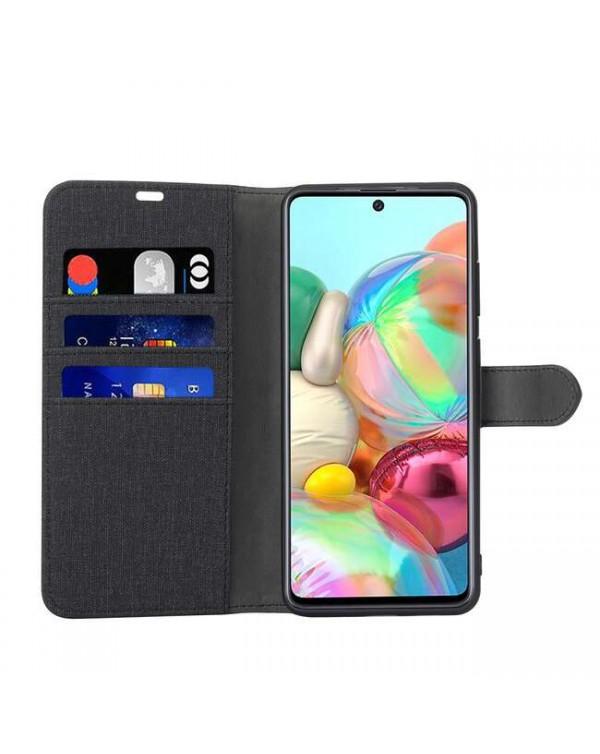 Blu Element - 2 in 1 Folio Case Black/Black for Samsung Galaxy A71
