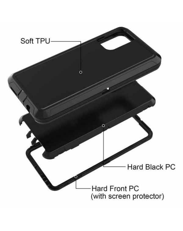 Rugged Holster Shell Combo Black for Samsung Galaxy A71