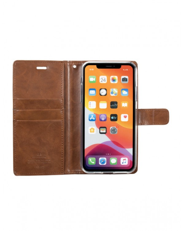 Mercury Bluemoon Diary for Apple iPhone Xs Max-brown