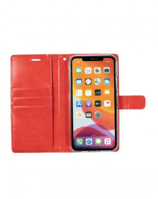 Mercury Bluemoon Diary for Apple iPhone XS Max-Red