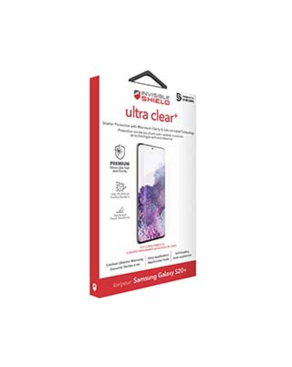 Samsung Galaxy S20 5G ZAGG InvisibleShield Ultra Clear+ Case Friendly Film Screen Protector