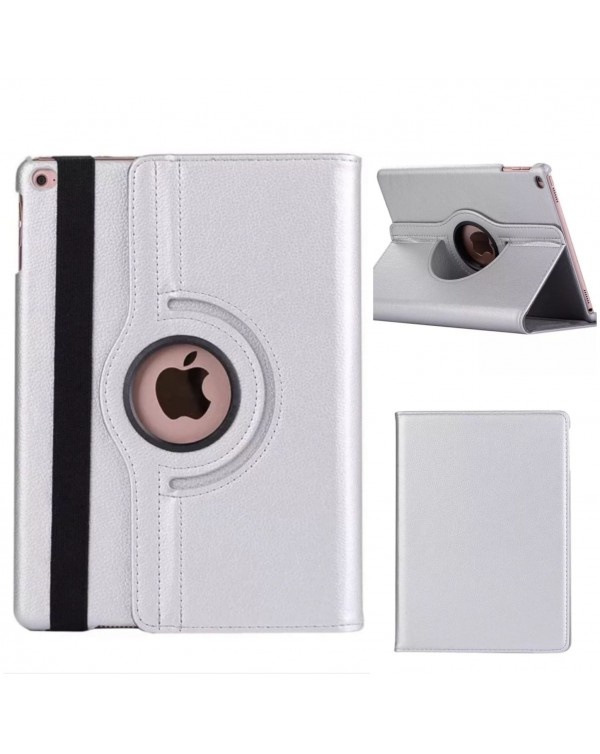 Rotating Flip Cover For Apple IPad Mini 1/2/3-Silver