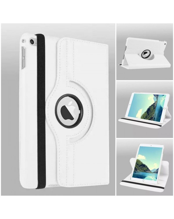 Rotating Flip Cover For Apple iPad Air 2 White
