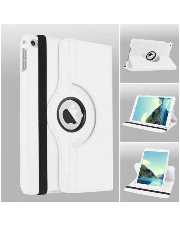 Rotating Flip Cover For Apple iPad Mini 5  White
