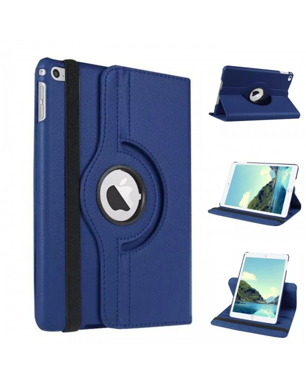 Rotating Flip Cover For Apple iPad 10.2 (2019/2020) (7th/8th Gen) Navy Blue