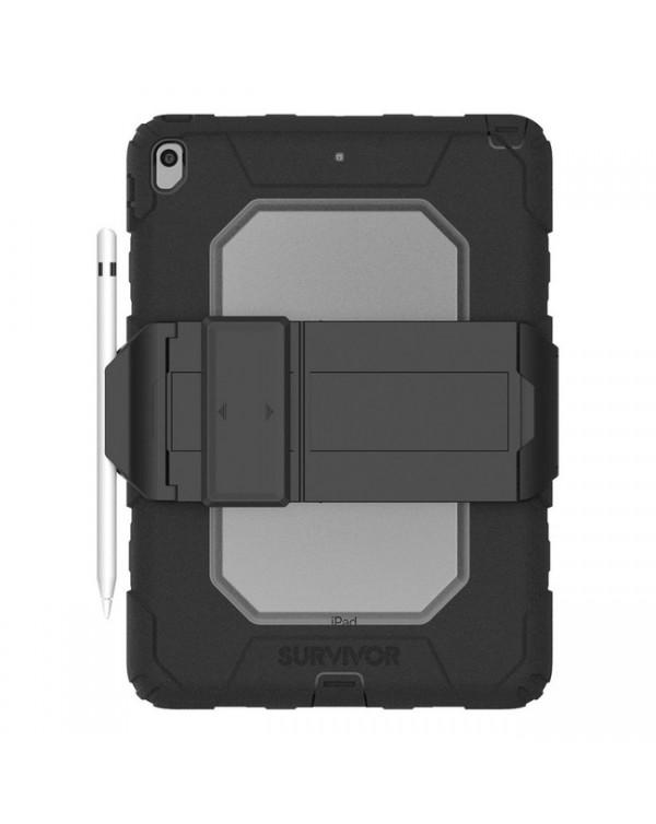 Griffin - Survivor All-Terrain Rugged Case Black/Clear for iPad Air 3/iPad Pro 10.5
