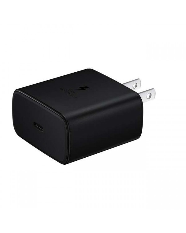 Samsung - Super Fast Charging Travel Adapter Single USB 45W with USB-C to C Cable 3.3ft Black