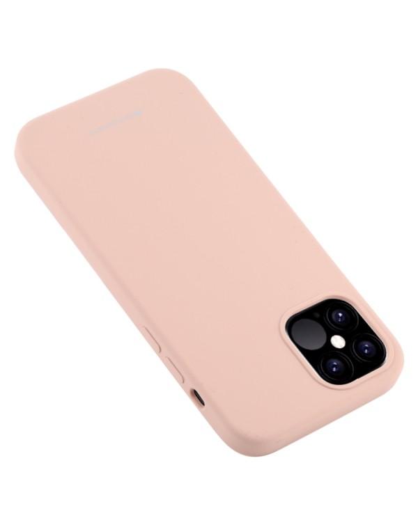 GOOSPERY SOFT FEELING Liquid TPU Shockproof Soft Case for iPhone 12/12 Pro(Pink)