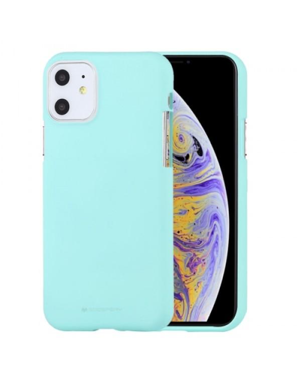 GOOSPERY SOFT FEELING Liquid TPU Shockproof Soft Case for iPhone 11 (Mint Green)