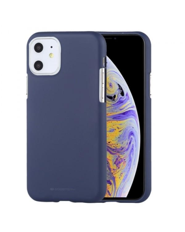 GOOSPERY SOFT FEELING Liquid TPU Shockproof Soft Case for iPhone 11 (Dark Blue)