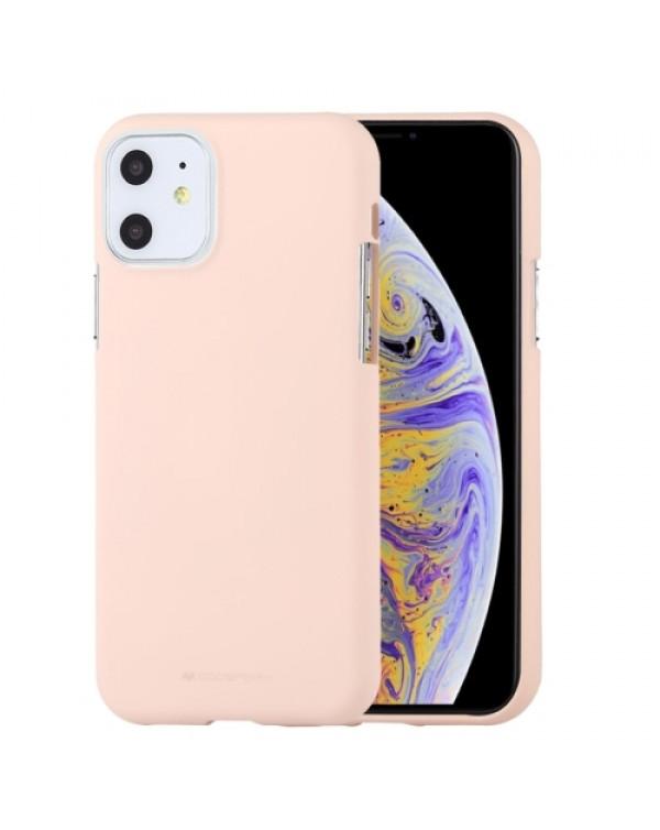 GOOSPERY SOFT FEELING Liquid TPU Shockproof Soft Case for iPhone 11 (Apricot)