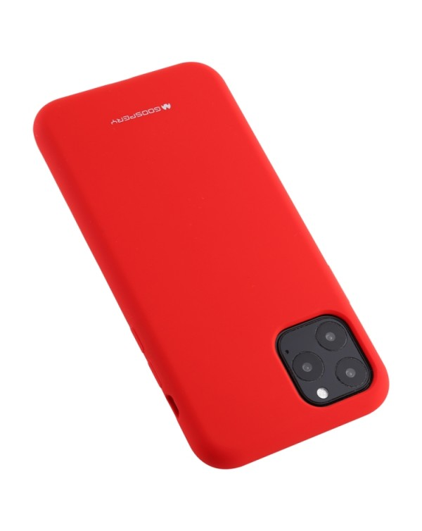 GOOSPERY SOFT FEELING Liquid TPU Shockproof Soft Case for iPhone 11 Pro Max(Red)