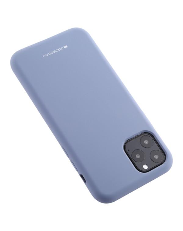 GOOSPERY SOFT FEELING Liquid TPU Shockproof Soft Case for iPhone 11 Pro(Lavender grey)