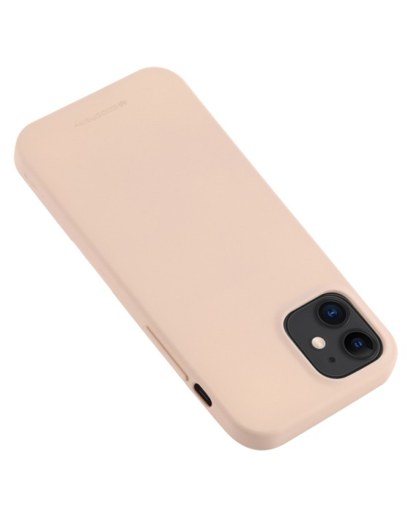 GOOSPERY SOFT FEELING Liquid TPU Shockproof Soft Case for iPhone 11(Light Pink)