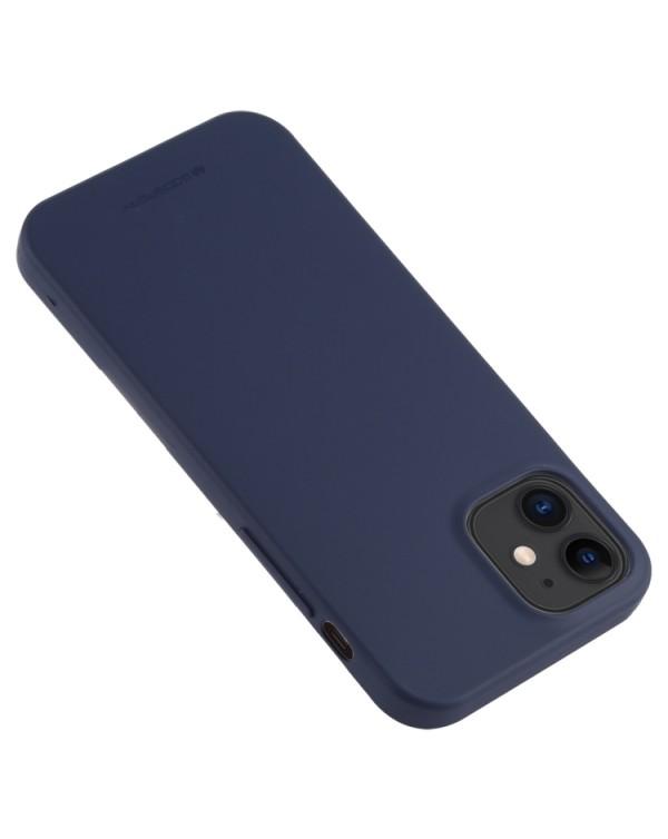 GOOSPERY SOFT FEELING Liquid TPU Shockproof Soft Case for iPhone 11 (Navy Blue)