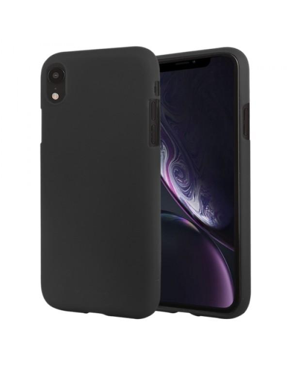 GOOSPERY SOFT FEELING Liquid TPU Drop-proof Soft Case for iPhone XR(Black)