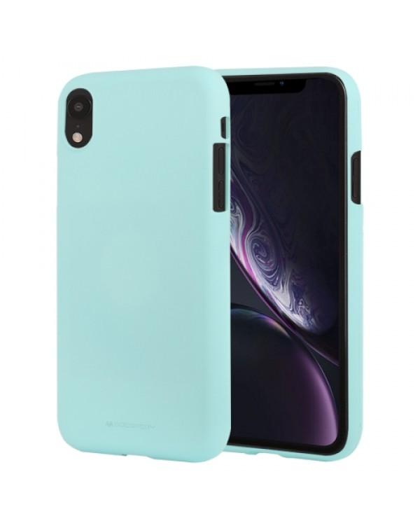 GOOSPERY SOFT FEELING Liquid TPU Drop-proof Soft Case for iPhone XR(Mint Green)