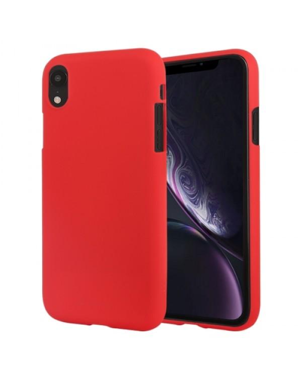 GOOSPERY SOFT FEELING Liquid TPU Drop-proof Soft Case for iPhone XR(Red)