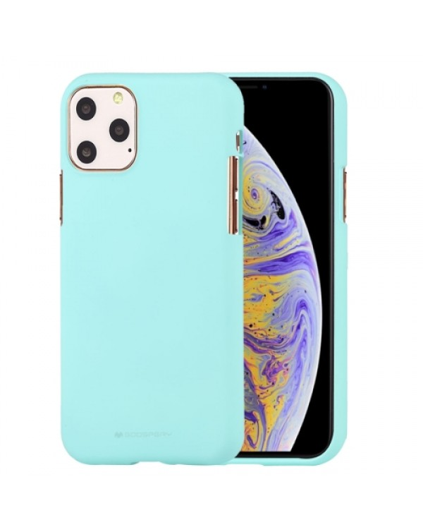 GOOSPERY SOFE FEELING TPU Shockproof and Scratch Case for iPhone 11 Pro Max(Mint Green)