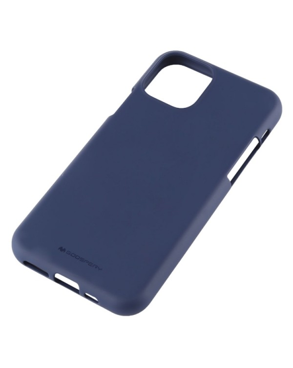GOOSPERY SOFE FEELING TPU Shockproof and Scratch Case for iPhone 11 Pro Max(Dark blue)