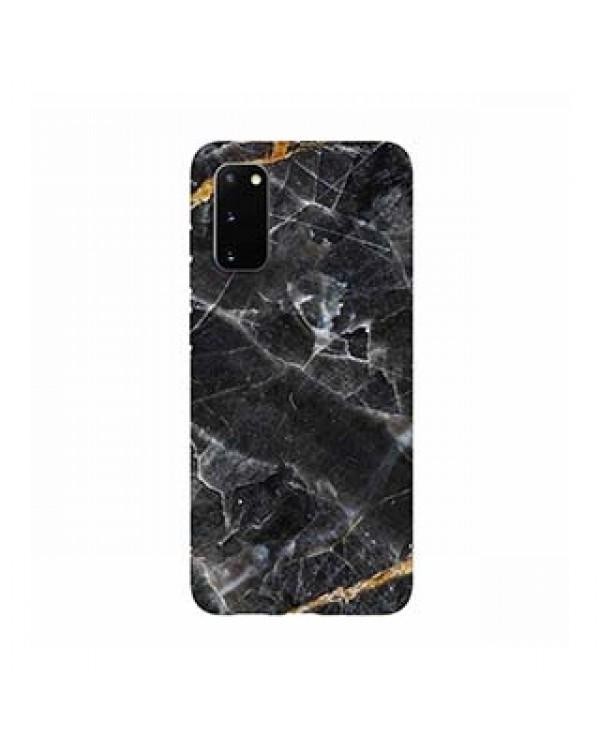 Samsung Galaxy S20 5G Uunique Black/Gold (Dark Star Marble) Nutrisiti Eco Printed Marble Case