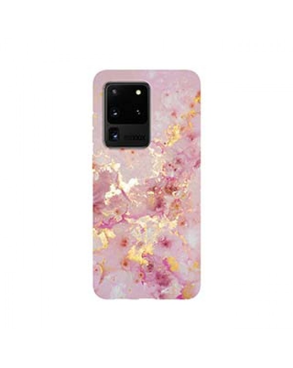 Samsung Galaxy S20 Ultra 5G Uunique Pink (Pink Candy Marble) Nutrisiti Eco Printed Marble Back Case