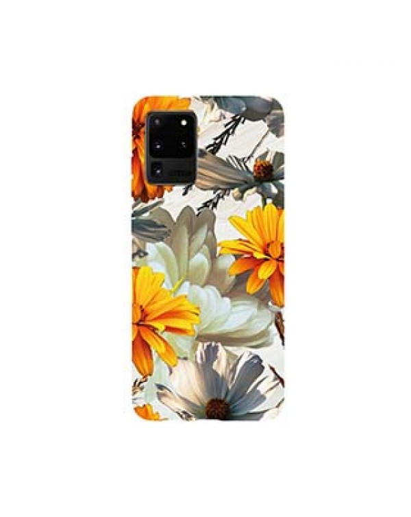 Samsung Galaxy S20+ 5G Uunique Pink/Yellow (Sunset Flower) Nutrisiti Eco Printed Marble Case