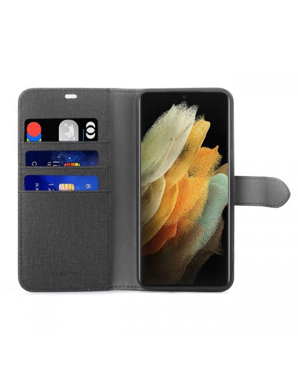 Blu Element - 2 in 1 Folio Case Black/Black for Samsung Galaxy S21 Ultra