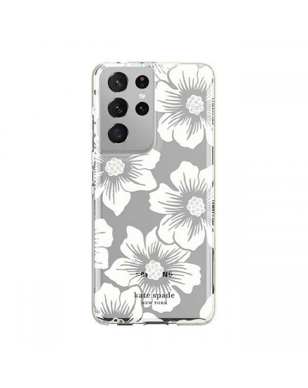 Kate Spade - Defensive Hardshell Case Hollyhock Floral for Samsung Galaxy S21 Ultra