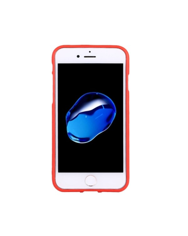 GOOSPERY SOFT FEELING for iPhone 8/7/SE 2020 Liquid State TPU Drop-proof Soft Protective Back Cover Case (Red)
