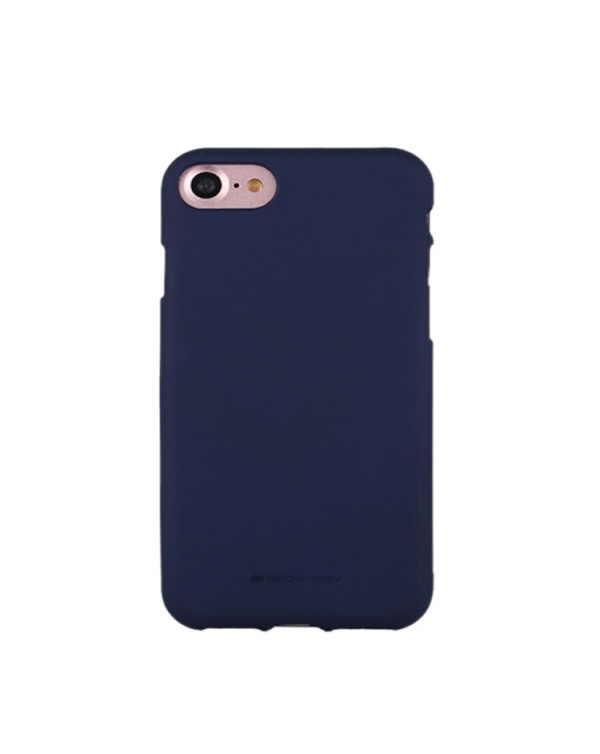 GOOSPERY SOFT FEELING for iPhone 8/7/SE 2020 Liquid State TPU Drop-proof Soft Protective Back Cover Case (navy)