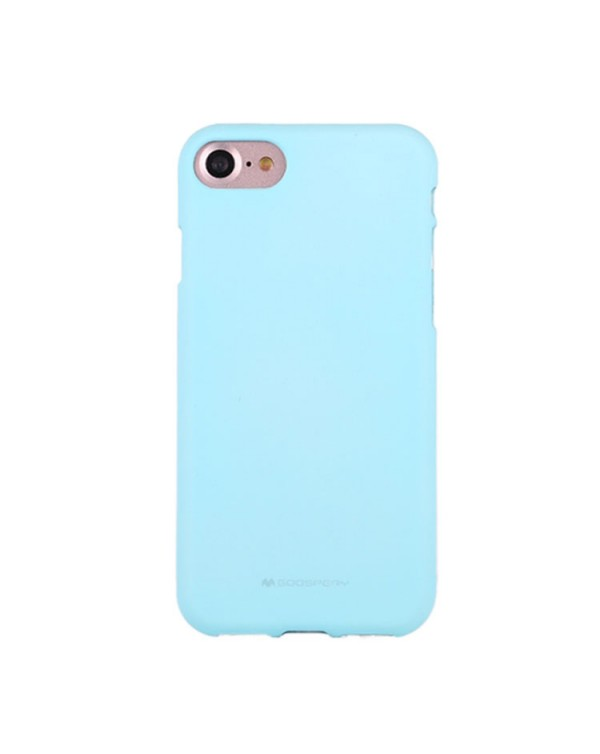 GOOSPERY SOFT FEELING for iPhone 8/7/SE 2020 Liquid State TPU Drop-proof Soft Protective Back Cover Case (Mint Green)