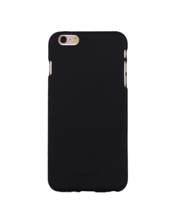 GOOSPERY SOFT FEELING for iPhone 6 Plus/6S Plus Liquid State TPU Drop-proof Soft Protective Back Cover Case (Black)