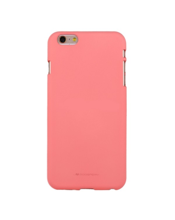 GOOSPERY SOFT FEELING for iPhone 6 Plus/6s Plus Liquid State TPU Drop-proof Soft Protective Back Cover Case (Pink)