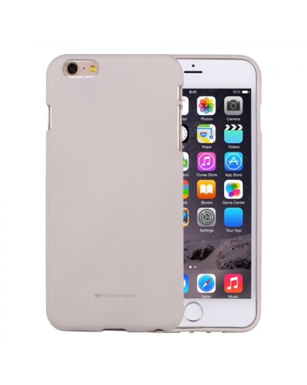 GOOSPERY SOFT FEELING for iPhone 6 Plus/6S Plus Liquid State TPU Drop-proof Soft Protective Back Cover Case (Grey)