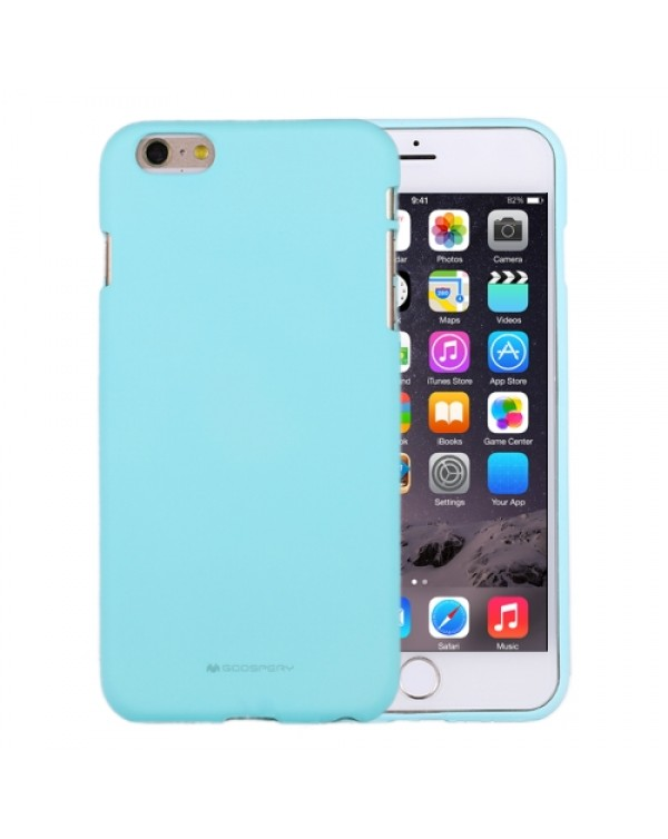GOOSPERY SOFT FEELING for iPhone 6 Plus/6S Plus Liquid State TPU Drop-proof Soft Protective Back Cover Case (Mint Green)