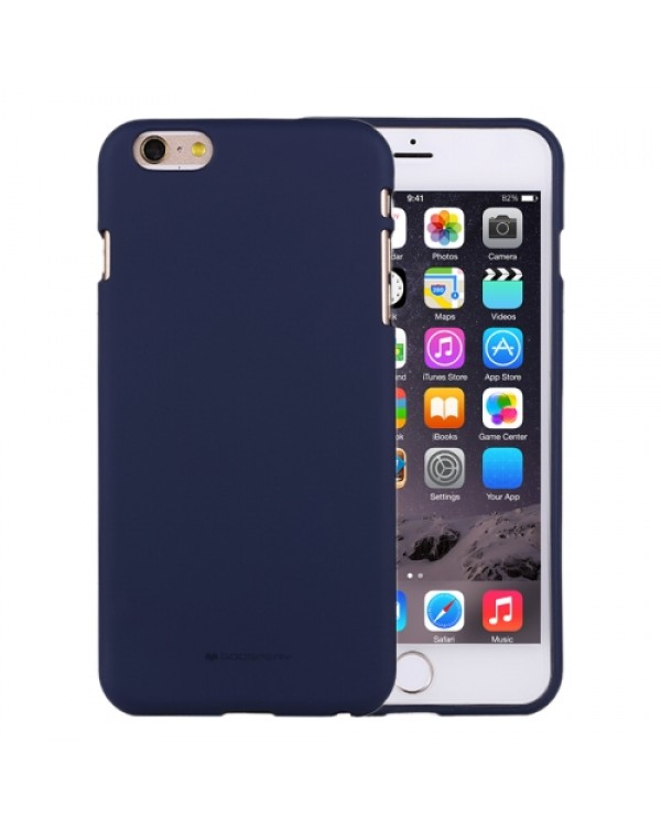GOOSPERY SOFT FEELING for iPhone 6 Plus/6S Plus Liquid State TPU Drop-proof Soft Protective Back Cover Case (Navy)