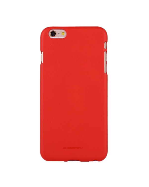 GOOSPERY SOFT FEELING for iPhone 6 Plus/6S Plus Liquid State TPU Drop-proof Soft Protective Back Cover Case (Red)