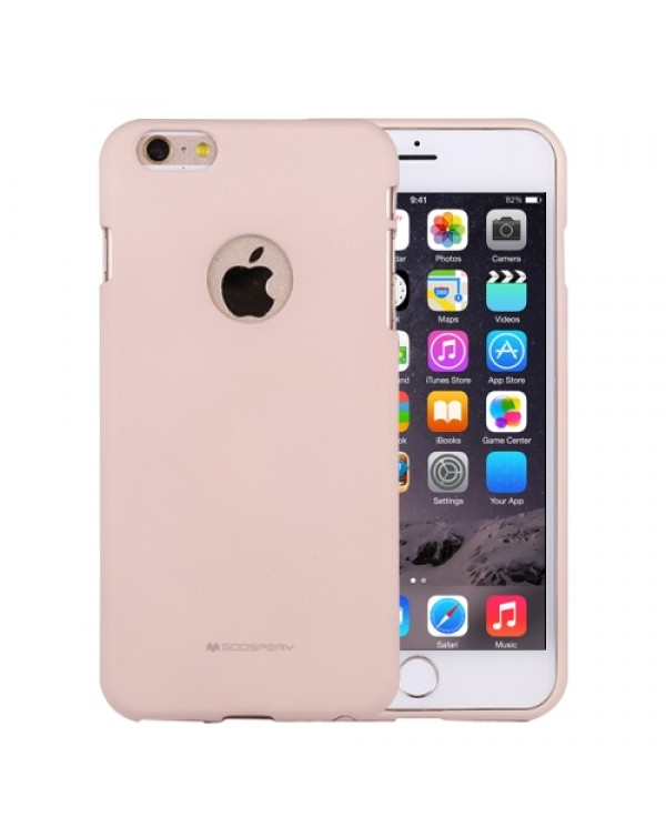 GOOSPERY SOFT FEELING for iPhone 6 Plus/6s Plus Liquid State TPU Drop-proof Soft Protective Back Cover Case (Beige)