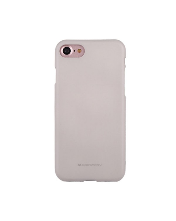GOOSPERY SOFT FEELING for iPhone 8/7/SE 2020 Liquid State TPU Drop-proof Soft Protective Back Cover Case (Grey)