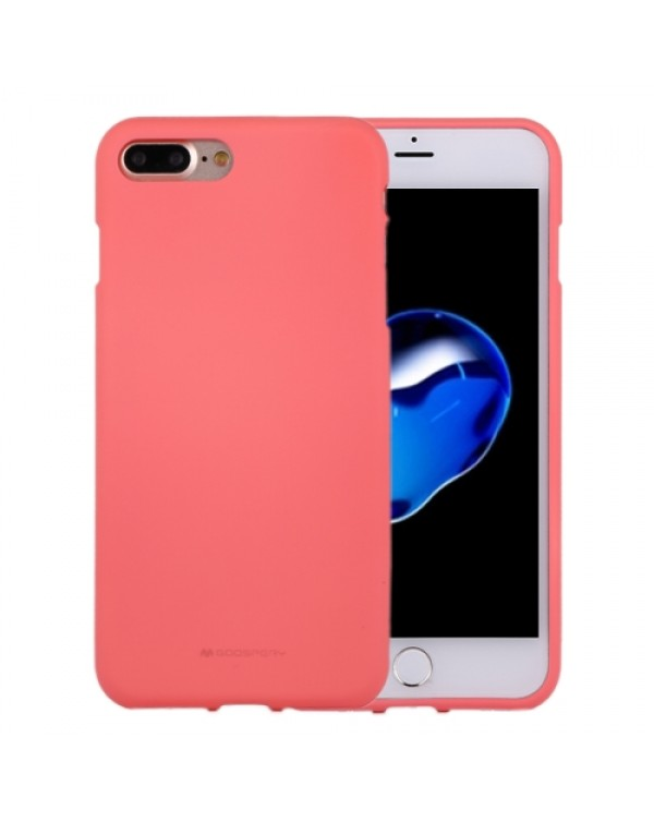GOOSPERY SOFT FEELING for iPhone 8 Plus/7 Plus Liquid State TPU Drop-proof Soft Protective Back Cover Case(Pink)