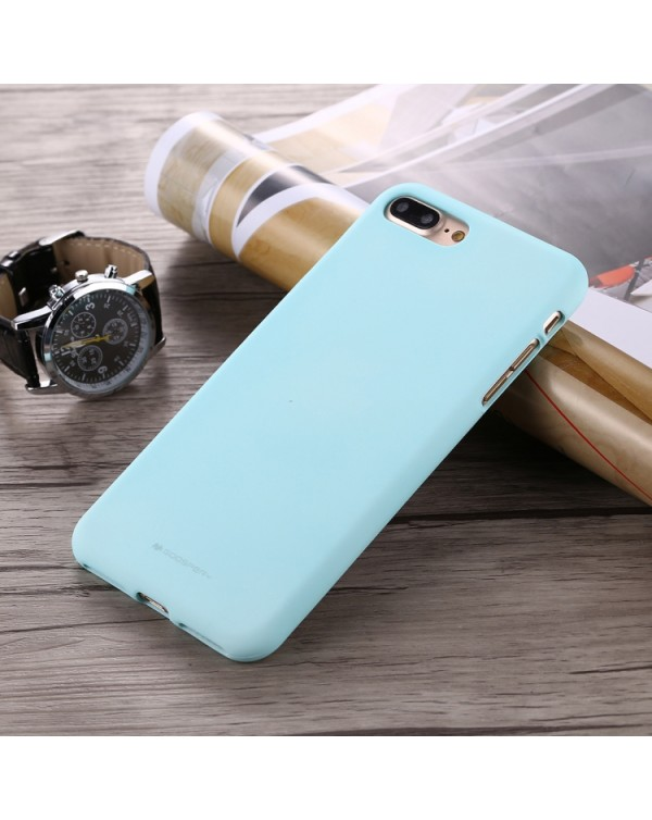 GOOSPERY SOFT FEELING for iPhone 8 Plus/7 Plus Liquid State TPU Drop-proof Soft Protective Back Cover Case(Mint Green)