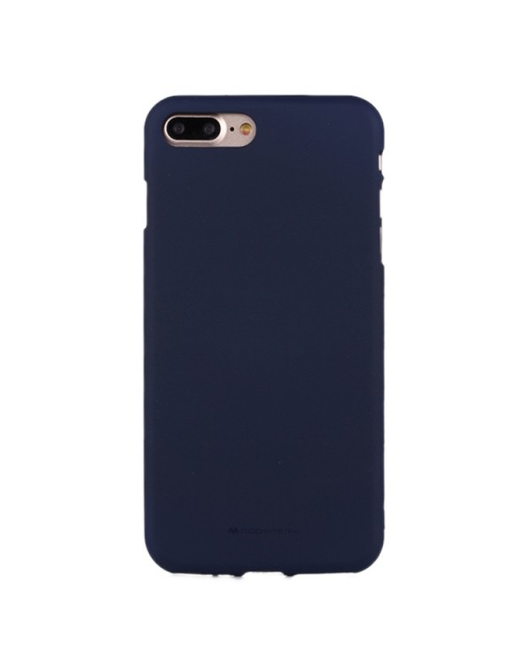 GOOSPERY SOFT FEELING for iPhone 8 Plus/7 Plus Liquid State TPU Drop-proof Soft Protective Back Cover Case(Navy)