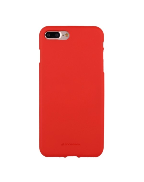 GOOSPERY SOFT FEELING for iPhone 8 Plus/7 Plus Liquid State TPU Drop-proof Soft Protective Back Cover Case(Red)