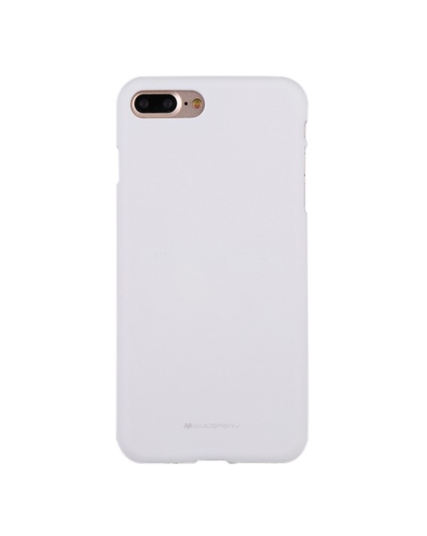 GOOSPERY SOFT FEELING for iPhone 8 Plus/7 Plus Liquid State TPU Drop-proof Soft Protective Back Cover Case(White)