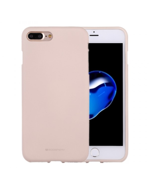 GOOSPERY SOFT FEELING for iPhone 8 Plus/7 Plus Liquid State TPU Drop-proof Soft Protective Back Cover Case(Apricot)