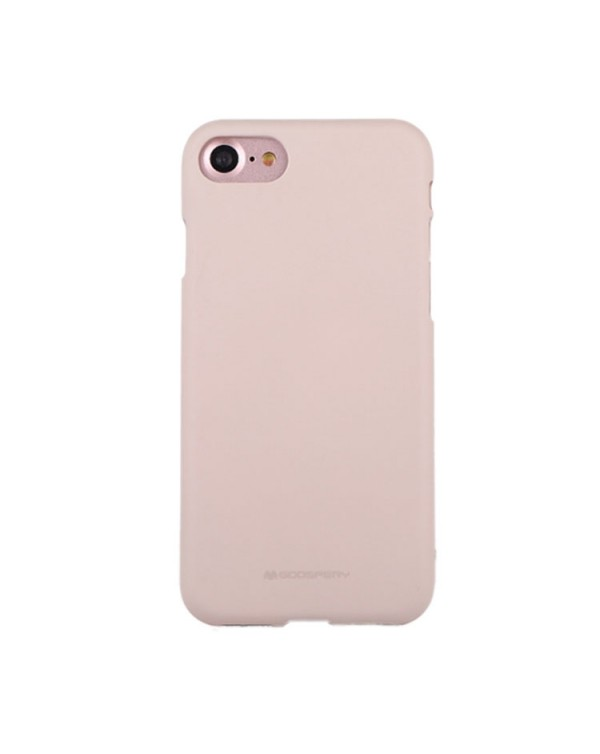GOOSPERY SOFT FEELING for iPhone 8/7/SE 2020 Liquid State TPU Drop-proof Soft Protective Back Cover Case (Apricot)