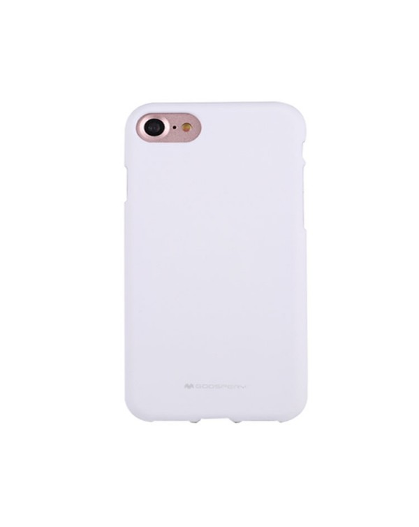 GOOSPERY SOFT FEELING for iPhone 8/7/SE 2020 Liquid State TPU Drop-proof Soft Protective Back Cover Case (White)