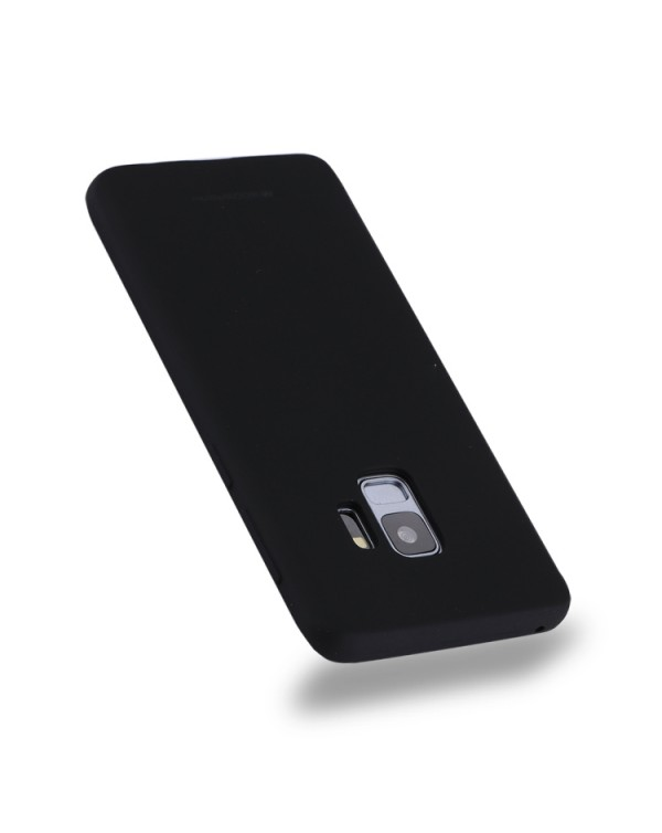 GOOSPERY SOFT FEELING for Galaxy S9 TPU Drop-proof Soft Protective Back Cover (Black)