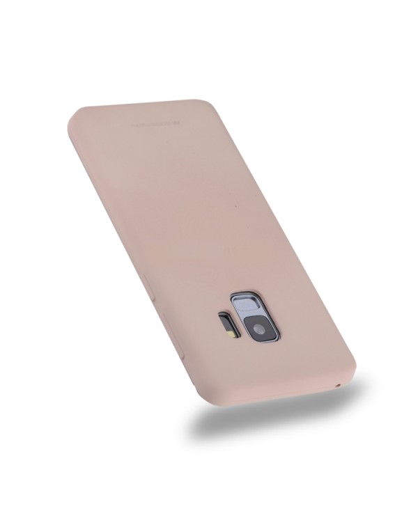GOOSPERY SOFT FEELING for Galaxy S9 TPU Drop-proof Soft Protective Back Cover (Pink)